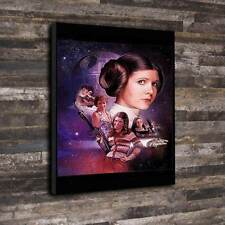 "Carrie Fisher Box Canvas A1.30""x20"" - 30mm Deep Frame Star wars Princess Leia"