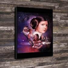 "Carrie Fisher Box Canvas A1.30""x20"" - 30mm Deep Frame Star wars Princess Leia"