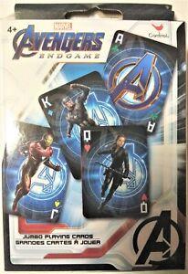 Marvel AVENGERS Endgame JUMBO PLAYING CARDS for Ages 4+