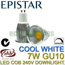 10X LILIANO 7W LED COB GU10 DIMMABLE DOWNLIGHT SPOTLIGHT CEILING COOL WHITE 240V