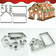 Gingerbread cookie cutter kit biscuit house make bake baking cooking - 10 pieces