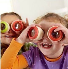 Wooden Fly's Eye Prism Kaleidoscope Traditional Wood Toy Kids Fun Educate Gift D