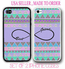 Aztec Purple BFF Best Friends Case 2 Rubber Silicone Cases For iPhone 6 6S 5S 5C