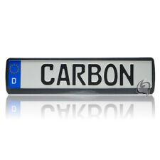BMW E90+E91+X3+X5+M3+M5+E32+E38 1x Carbon Tuning Kennzeichenhalter NEU