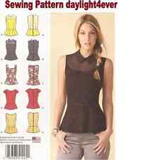 Women Top Blouse w/ Neckline Variations 1425 Sewing Pattern New 14-22