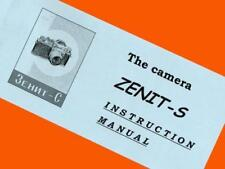 ENGLISH MANUAL fr ZENIT-S ZENIT-C SLR camera M39 Industar-50 INSTRUCTION BOOKLET