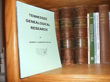 Tennessee Genealogical Research Book