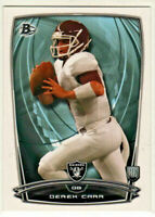 2014 Bowman Rookies #55 Derek Carr Oakland Raiders RC Rookie Football Card