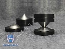 "4 pcs spikes + 4 pcs Pads - 39mm 1.54"" Stainless Graphite speaker Isolation Feet"