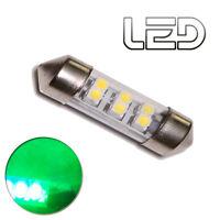 1 Ampoule Navette C10W 42 mm 42mm 6 LED  Vert Eclairage Habitacle Plafonnier