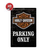 24010 Placa metálica 40x60 harley-davidson nostalgic art coolvintage