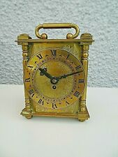 Latón antiguo Smiths 8 días Diseño Grabado Carro Reloj clave de Bobina Original