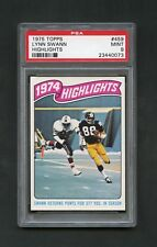 1975 Lynn Swann Topps Highlights #459 PSA 9 MINT Gorgeous Centered