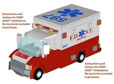 Instructions Stickers 4 LEGO Ambulance 60074 NYPD FDNY 4431 fire station engine