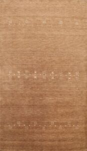 6'x8' Hand-knotted Modern Gabbeh Oriental Area Rug Geometric Home Decor Carpet
