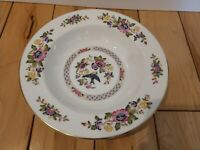 "Aynsley Capistrano FineBone China Soup Cereal Bowl 8"" Bird Swallow Asian Flowers"
