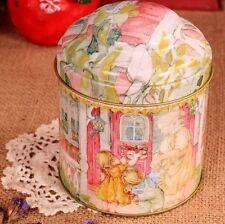 Retro Grandma House Balcony Pink Kitchen Coffee Tea Sugar Container Jar Metal
