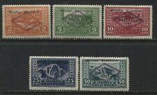 Albania 1924 set of 5 mint o.g. hinged