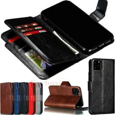 For iPhone 11 12 Pro Max XR 6s 7 8 Plus Wallet Case Card Slot Flip Leather Cover