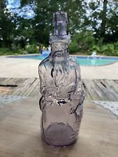 Antique Poland Water Amethyst Figural Moses Bottle