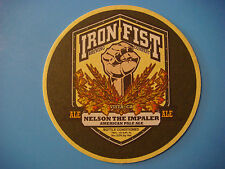Beer Coaster ~ IRON FIST Brewing Nelson the Impaler American Pale Ale ~ Vista CA