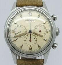VINTAGE 1950's Movado M95 Mens 35mm Steel Chronograph Watch ORIGINAL Dial FB Vac