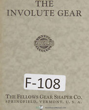 Fellows The Involute Gear Simply Explained Manual