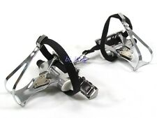 HT A67 pedals With Integrated Toe Clips Cages Straps ,Bike Cycling Pedal,A67