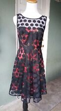 BETSEY JOHNSON Lace and Roses Two Layers Twirl Tea Dress Sz S / 2 **NEW**