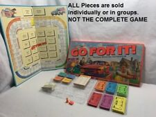 U-PICK 1985 Parker Brothers Go For It! Board Game parts pieces