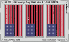 EDUARD 53209 WWII USN Ensign Flag STEEL Size 1 in 1:350