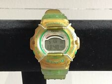 Casio Vintage Baby G BG-201 1522 Digital Watch Green Silicone Strap
