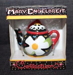 BOXED Vintage MARY ENGELBREIT Miniature TEA POT COLLECTION Tea Pot SUNFLOWER
