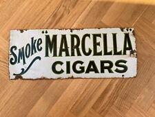 More details for vintage enamel marcella one sided advertising sign