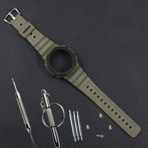 Resin strap case for GA-2100 Casioak watch strap band G-SHOCK Multicolor Straps