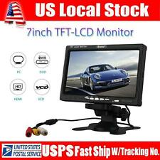 "Eyoyo S720 7""LCD TFT Color Monitor Display Audio HDMI/VGA/AV In Camera PC DVD"