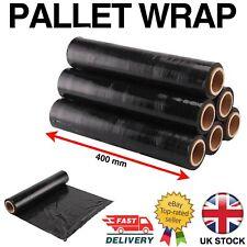 More details for strong roll black pallet stretch shrink wrap cast parcel packing cling film