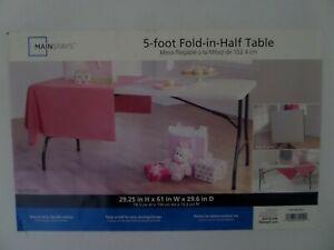 Lifetime 280513 Essential Fold-in-Half Table ,pearl,steel frame.