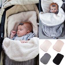 Newborn Baby Knit Swaddle Stroller Wrap Blanket Warm Infant Pram Sleeping Bag