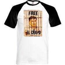 Gratis Joaquín el Chapo Guzmán Hombre Divertido Cartel Camiseta Drug Cocaína Top