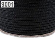 1m PE-Kordel 4mm Polyesterschnur für Jacken, Hoody etc. Kordel Schnur Hohlseil -