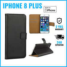 Wallet Flip Case Cover Cas Coque Etui Portefeuille Hoesje Black Fr iPhone 8 Plus