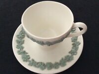 Vintage Embossed Wedgwood of Etruria & Barlaston Queens Ware Teacup and Saucer.