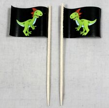 Party-Picker Dino (2) 50 Stk. Dekopicker Kindergeburtstag Papierfähnchen Food