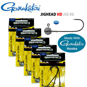 GAMAKATSU SPRO JIGKÖPFE HD JIG  6/0, 8/0, 10/0, 12/0, 18/0  5 BIS 150gr. AUSWAHL