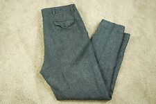 Mens Polo Sport Sportsman Ralph Lauren vintage rare gray wool dress pants 33x30
