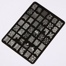 Finger Nail Stamp Stamping Plates Polish Manicure Image Template Art Stencil