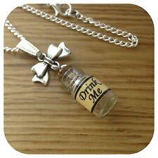 Alice In Wonderland Mini bebida me Botella Arco Collar