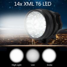 50000LM 14x XML T6 3-Mode LED Bicycle Headlight Lamp Mountain Bike Front Light