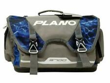 New Plano B-Series 3700 Fishing Tackle Bag/Box Hat & Face Shield Blue Mossy Oak